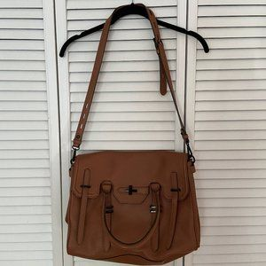 Rebecca Minkoff Jules Brown Leather Satchel